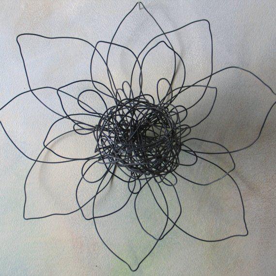 Fleur home deco fil de fer