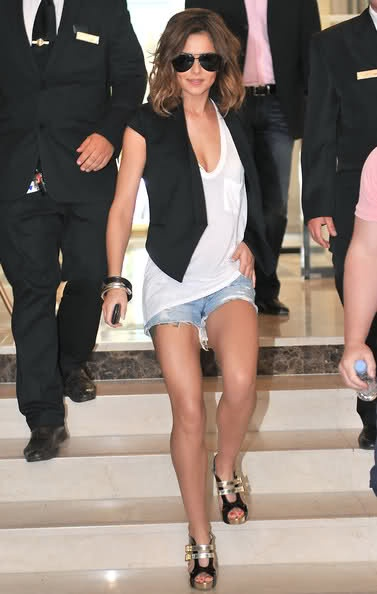 Cheryl Cole - love the shorts and blazer!