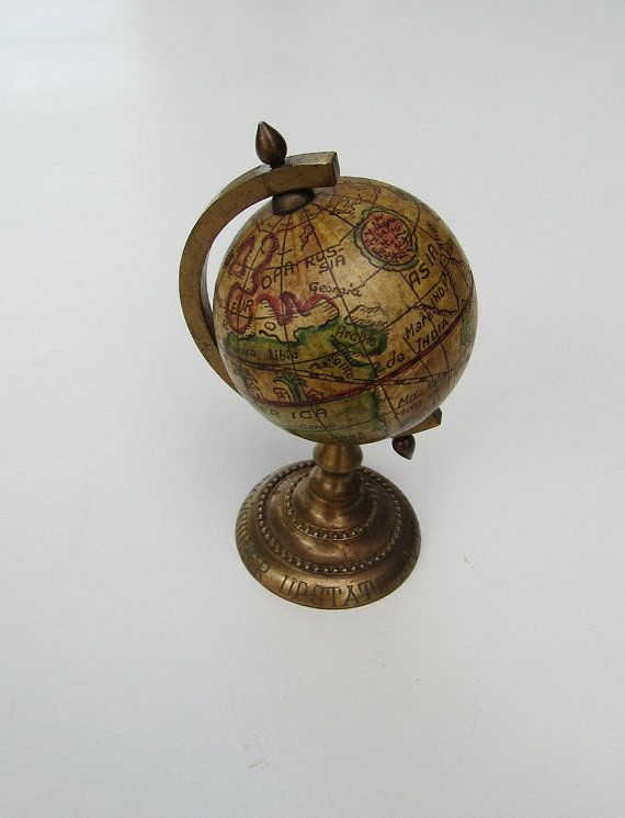 Mini Globe, Miniature Globe, Desk Globe, Vintage Globe, Antique Globe, Old  World Globe, Old World Map, Desk Decor, Shelf Decor, World Globe - The 106 Best Antique Globes Images On Pinterest Map Globe, Vintage