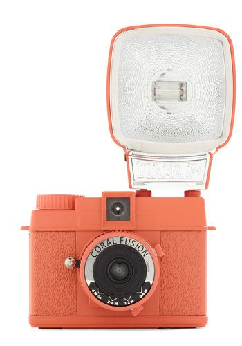 Lomographic Corp. Special Edition Diana Mini Camera in Coral Fusion, I love