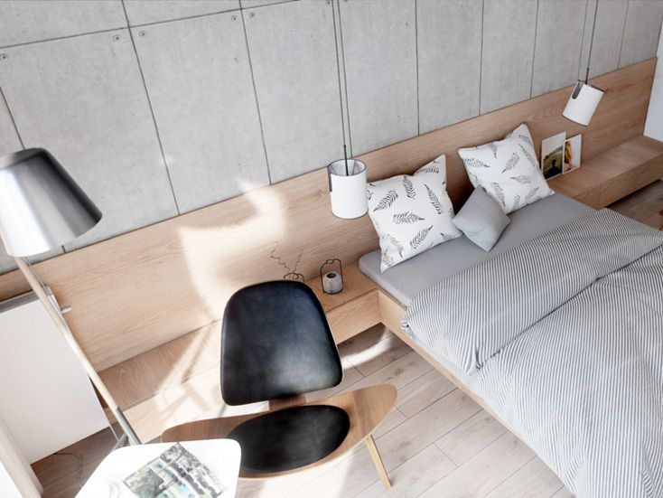 Wygodna i przestrzenna główna sypialnia