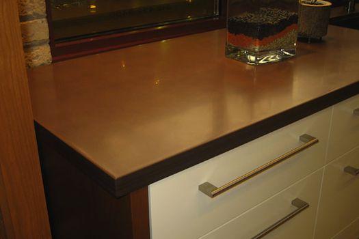 Composite bathroom countertops
