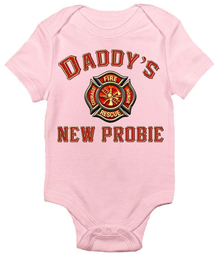 Baby Bodysuit - Daddy's New Probie Firefighter