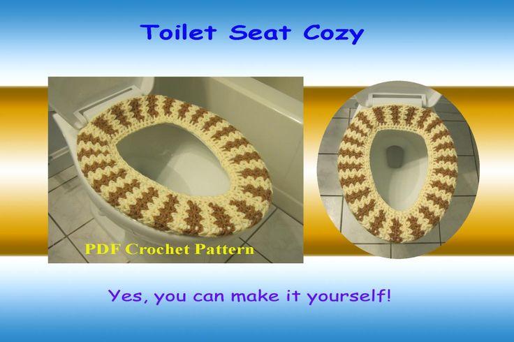 Crochet Pattern Toilet Seat Cozy Toilets Bathrooms