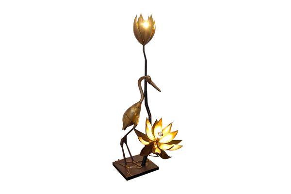 Maison Jansen Heron And Lotus Floor Lamp | Vinterior   #midcentury #modern #20thcentury