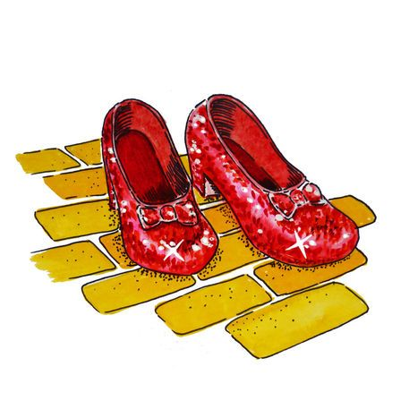 Wizard Of Oz Dorothy S Ruby Slippers Painting Art Prints ...