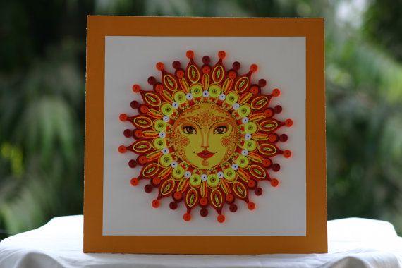 Mandala del sol - arte Quilling