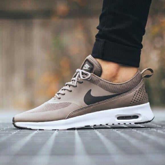 nike air max thea textile sneaker taupe