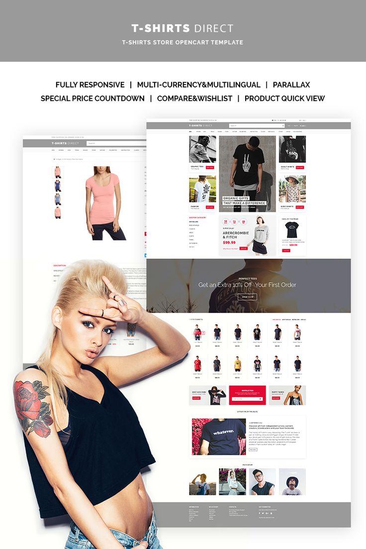 T-Shirt Shop OpenCart Template