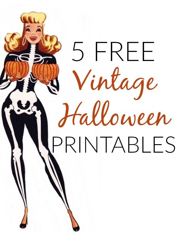 5 free vintage and retro halloween craft printables for home decorating - Halloween Decorations Printable