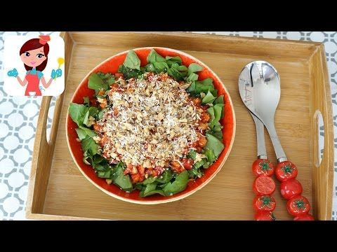 Közlenmiş Biberli Roka Salatası (Videolu Tarif) | Kevserin Mutfağı - Yemek Tarifleri