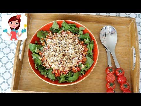 Közlenmiş Biberli Roka Salatası (Videolu Tarif)   Kevserin Mutfağı - Yemek Tarifleri