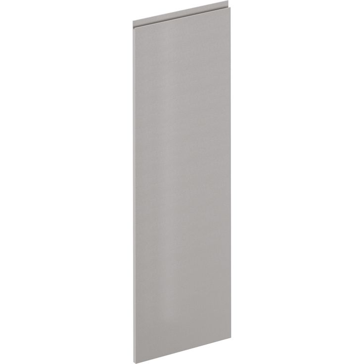 Porte de cuisine Osaka effet cuir gris clair, DELINIA ID H.137.3 x l.59.7 cm