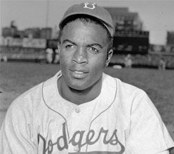 Jackie Robinson Day: Jackie Robinson's legacy is being memorialized on April 15, 2012, by fans, players and Major League Baseball, marking the 65th anniversary of the Hall of Famer breaking baseball's color barrier. For the fourth consecutive year, all uniformed personnel at ballparks were asked to wear Jackie's retired No. 42.