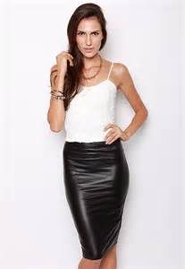 Women In Leather Skirts