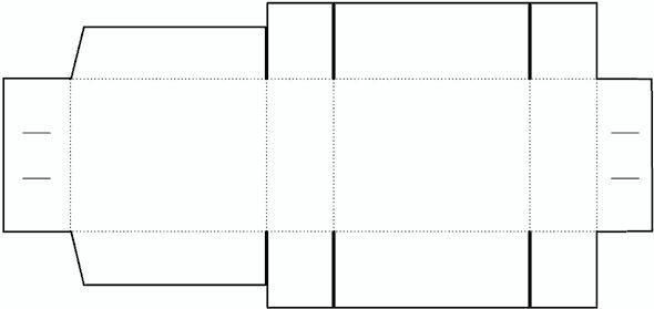 Cube Box Template No.03   Free Box Templates Store
