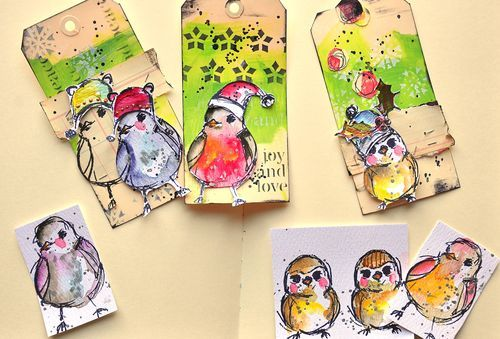Holiday birdie tags...tweet tweet!