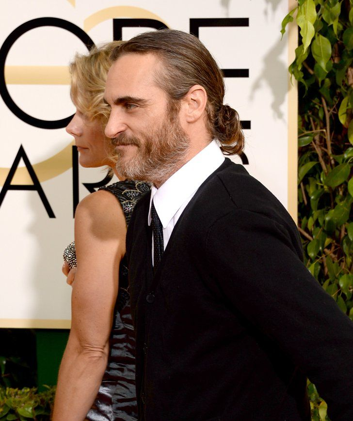 Pin for Later: 15 Times Joaquin Phoenix's Good Looks Made Us Feel Weak at the Knees When he had a ponytail.