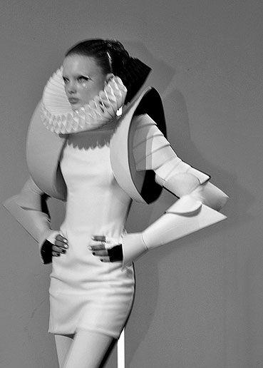 Futuristic Amour Fashion - avant garde dress; space-age sculptural fashion // Gareth Pugh Fall 2009