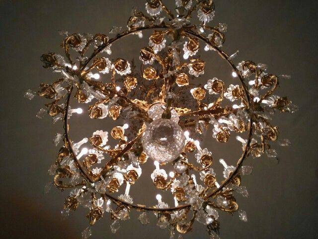 Luxury lamp in Villa Pignatelli.