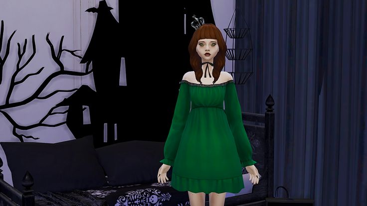 The Sims 4 | divadoom Sleepy Princess Dress for adult female | CAS clothing full body party