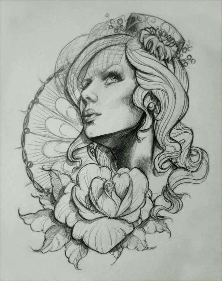 Ideas rose tattoo sketches girl tattoos tattoo designs tattoo s