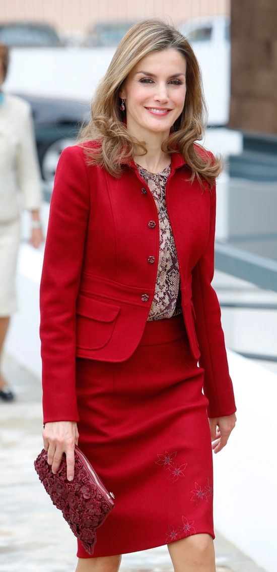 Queen Letizia of Spain attends the closing ceremony of the 2nd Ibero American Meeting of Rare Diseases in Moita, Portugal.