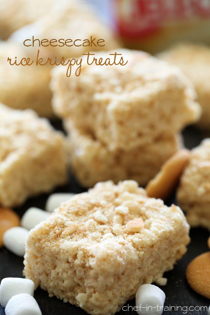 Cheesecake Rice Krispy Treats