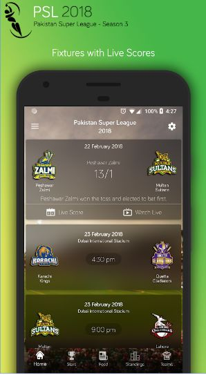 PSL 2018 LIVE STREAMING APK FREE DOWNLOAD  psl live streaming psl live psl matches psl schedules psl players psl top players psl players earnings psl best moments psl new news best psl The #1 cricket app for PSL 2018 with very user-friendly and unique UI design. It is the most innovative, cool and modern cricket experience for you.   PSL-2018 app provides a very fast coverage of all the official PSL cricket actions including fixtures, up-to-the-minute scores, match results, live streaming…