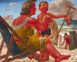 "Aletta Lewis, ""the beach"" 1952"
