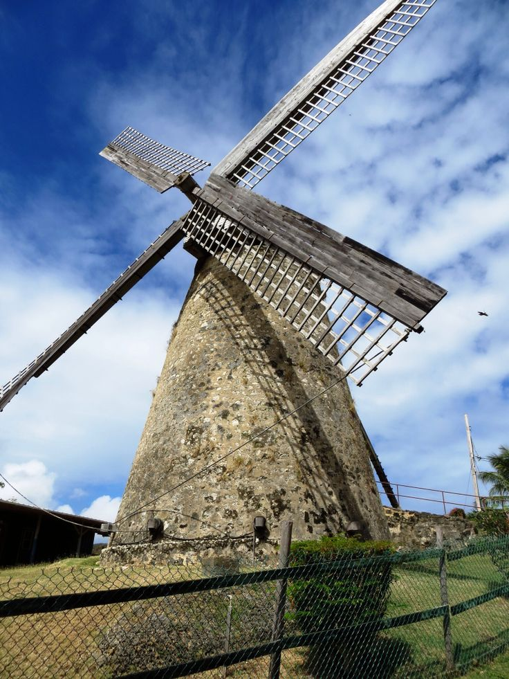 Morgan Lewis Windmill.  One of only 2 working sugar windmills in the world! St. Andrew, Barbados