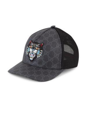 a47d7fca75f GUCCI Angry Cat Gg Supreme Canvas Baseball Cap.  gucci  cap