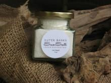 """Outer Banks SeaSalt. Village VIP Offer:  20% off of online orders (only). Use Code """"Village People"""" at check out. Outer Banks SeaSalt is hand harvested and dried using heritage techniques with a modern touch. It is available in several sizes and included in our gift baskets.  http://www.OBXSeaSalt.com"""