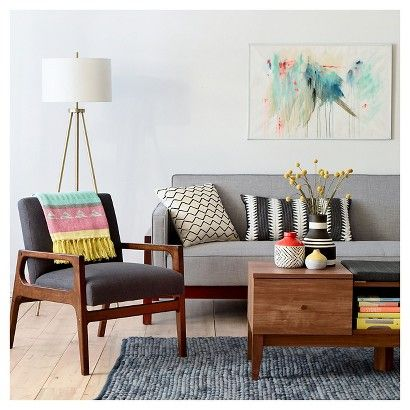 Mid Century Colorful Living Room Collection