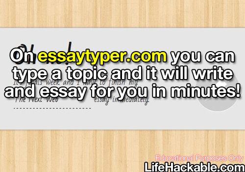 My essaytyper