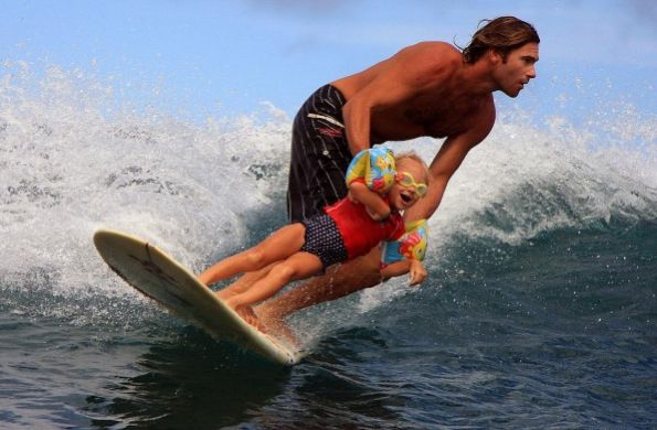 Teaching your kids to surf Witch's Rock in Costa Rica
