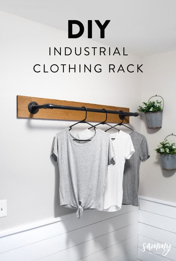 Diy Wall Mounted Clothing Rack Laundry Room Diy Laundry Room