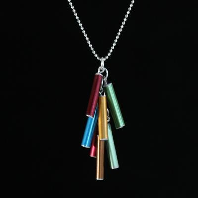 Made from old aluminum knitting needles. This would be a perfect necklace to wear to a sheep and wool festival...