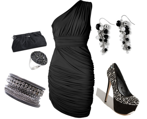 Classic Black with a little sparkle, created by sonia-robertson on Polyvore