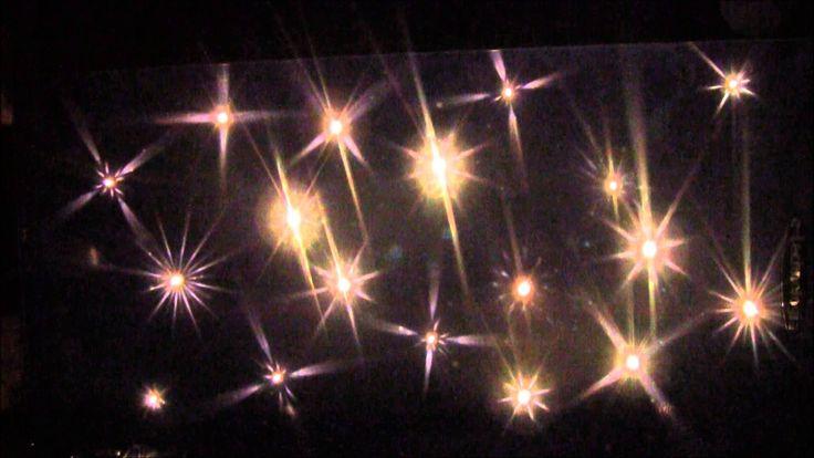 Kryształowe Gwiazdy -  dekoracyjne oświetlenie sufitu - E - TECHNOLOGIA
