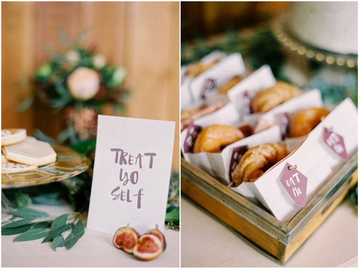 Don't forget the donuts on your wedding sweet table!