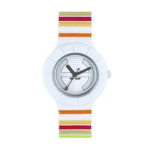 Il Mille Colori della collezione Hip Hop Millerighe è un orologio allegro per donne felici e dinamiche: la cassa misura 32 mm e il movimento è al quarzo