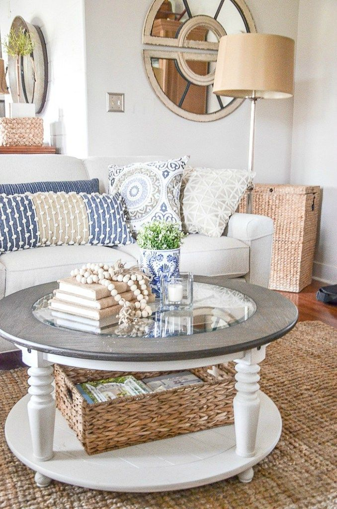 Round Coffee Tables Are Not That Hard To Decorate When You Know How Keep Is Simple And You Can S Table Decor Living Room Coffee Table Round Coffee Table Decor