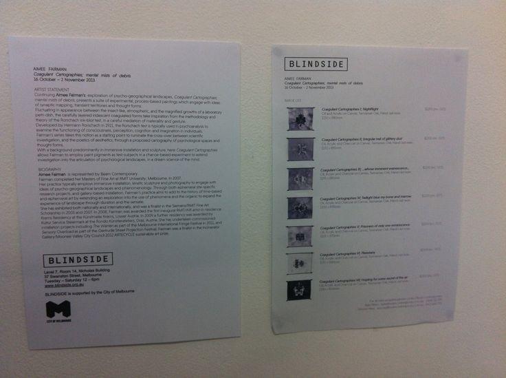 Blindside Artwork Information
