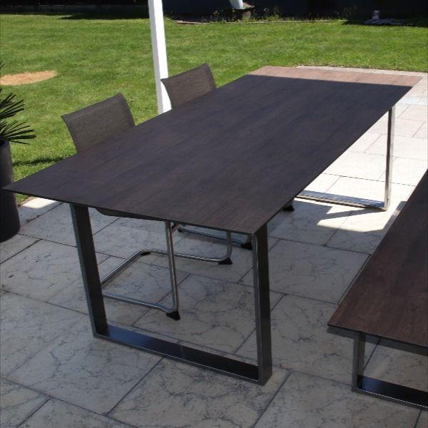 Diy Gartenmobel Hpl Tisch Loft Brown Kanten Gefrast Hpl Platten Loft Gartenmobel
