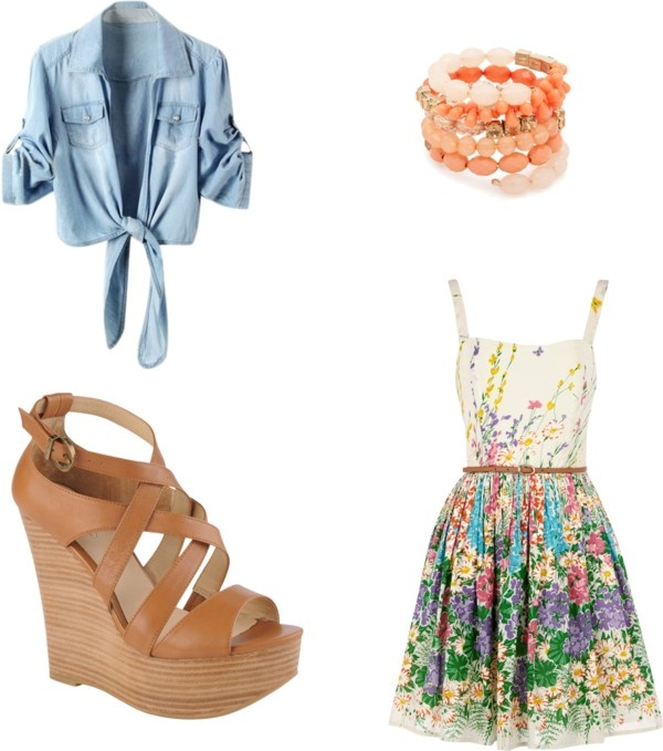 cute floral outfit, created by reganstegall on Polyvore ...