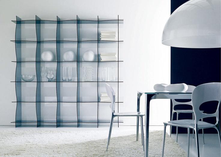 wallmounted bookcase wave by bontempi casa design erresse studio