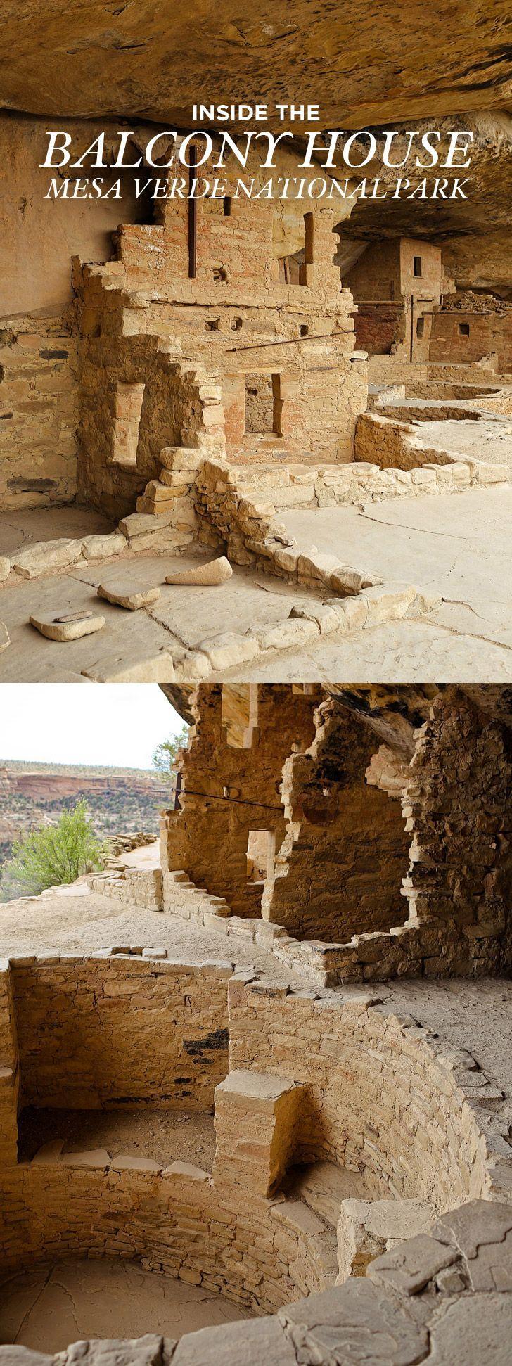 Balcony House Mesa Verde National Park - ancient cliff dwellings built by Ancestral Puebloans // http://localadventurer.com