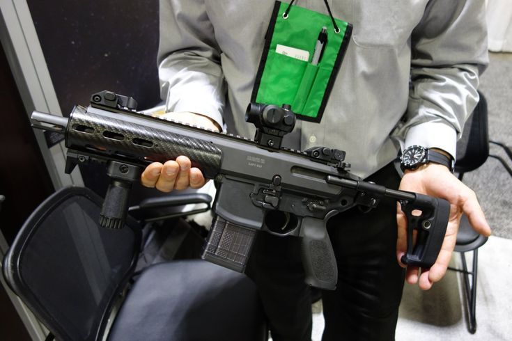 SIG Sauer MCX (Mission-Configurable Weapon System) Dual-Piston/Op-Rod 5.56x45mm NATO and 7.62x39mm Russian AR-15 Short Barreled Rifle (SBR)/PDW/Carbine with Integral Suppressor Introduced at NDIA SOFIC 2013