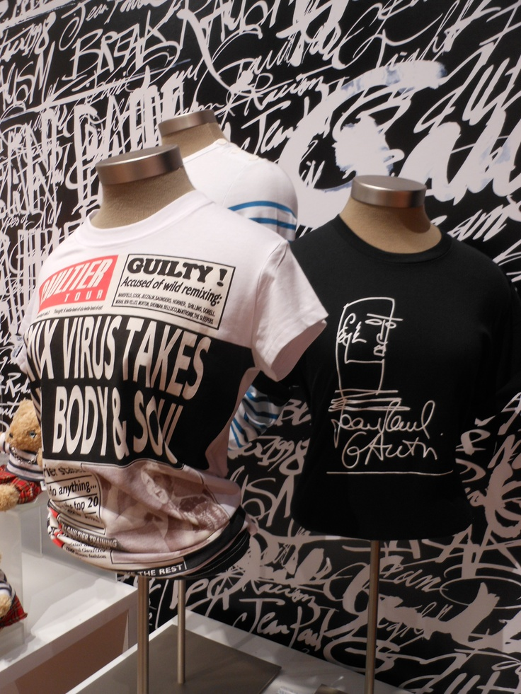 Jean Paul Gaultier T-shirt display at the de Young Legion of Honor Museum Store.